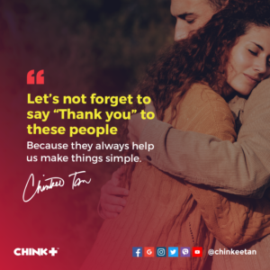 """Let's not forget to say """"Thank you"""" to these people because they always help us make things simple."""